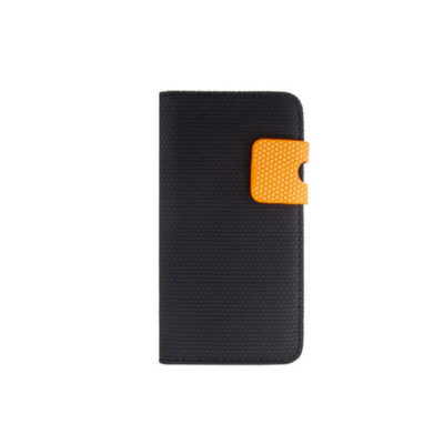 etui portefeuille noir orange iphone5