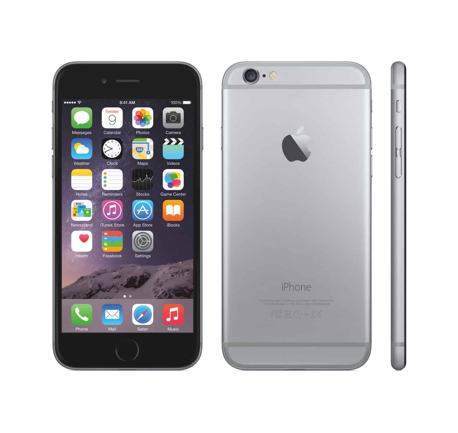 apple iphone 6 black. iphone 6 16gb black apple iphone recycell