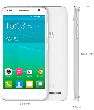 Alcatel idol 2 6050a Blanc